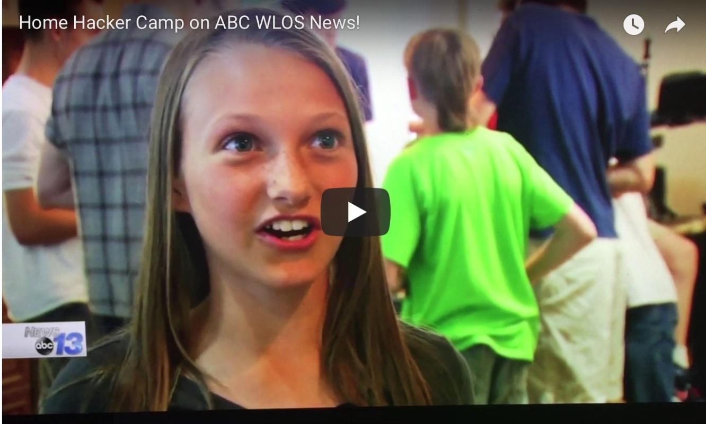 Home Hacker Camp on ABC WLOS News