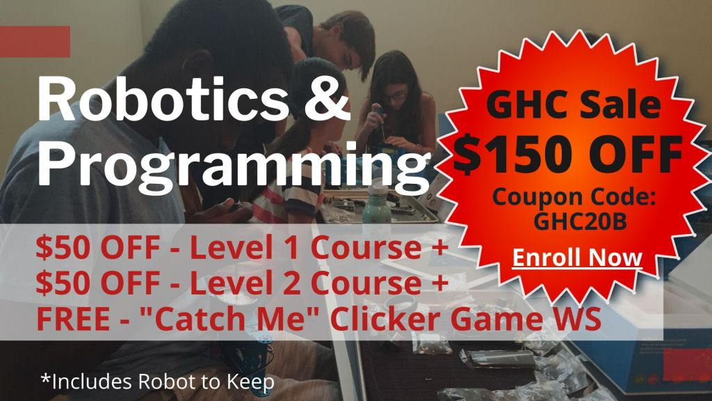 Robotics and Programming Classes Camps Curriculum.